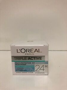 L'Oreal Triple Active Multi-Protection Day Moisturiser 24H Hydration Normal Skin