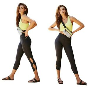 FP Movement High-Rise 3/4 Infinity Leggings Gray M Cut Outs