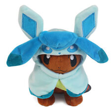 Pokemon Center Eevee Poncho Campaign Glaceon Pikachu Plush Doll Toy 7 inches US