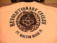 Revolutionary Cycles Ft Walton Bch Fl, Pink Tee Shirt  Size Med,