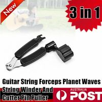 3 in 1 Guitar String Forceps Planet Waves String Winder And Cutter Pin sc