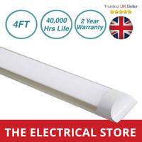 LED Batten Slimline Tube Light UK 4FT Strip Lights Wall Or Ceiling Mount IP20