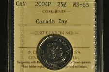 Canada 2004P Quarter 25 Cent - Canada Day - ICCS - MS65 -
