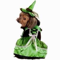 Neon Led Witch (Green) Pet Dog Costume MEDIUM