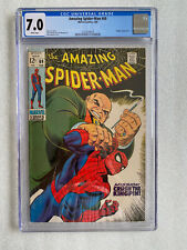 Amazing Spider-Man #69 CGC 7.0 White Pages! 1969 Kingpin Appearance