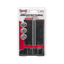 Lane Security ARCHITECTURAL LOOSE PIN BUTT HINGE 100x75x2.5mm 2Pcs MATTE BLACK
