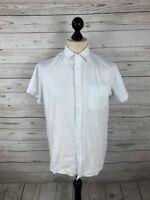 ARMANI Shirt - Size Medium - Short Sleeved - White - Great Condition - Men's