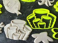 IMPIANTO di Mare Animali Set Fondente Cookie Cutter Cupcake Decorazione per Torta Regalo BADGE