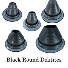 Dektite Round Pipe Flashing Boot: Black EPDM Roof Flashing - Sizes #0 to #8
