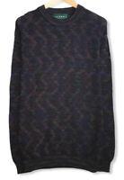 "Tundra Canada Men's Size XL ""Coogi Style"" Knit Multicolor Geometric Sweater euc"