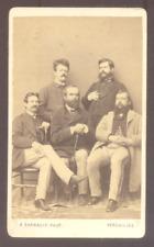 CDV A.Sarrault à Versailles; Groupe de cinq personnages, Albumen print c.1870/72