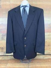 Chatsworth Mens Suit Jacket Blue Single-Vented Notch Lapel Pocket Merino Wool 42