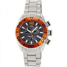 Swiss digital orange men sport wrist watch, luxury new blue black chronograph