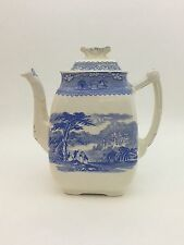 Antique Porcelain Tea Pot Old Hall Earthenware Co. Staffordshire England C. 1880