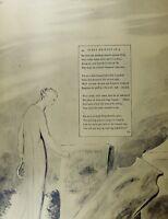 1922 Lebensgroß William Blake Großer Druck Illustriert Thomas Grays Gedicht