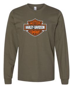Harley Davidson Long Sleeve Mens T Shirt gift 100% Cotton Free P&P Vintage