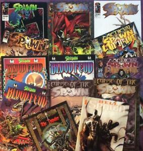 Spawn Job lot of 13 x issues. Image 1990's.
