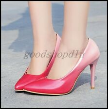 Chic Lady Womens Patent Leather Pointy Toe Pumps Stiletto Heels OL Work Shoes SZ