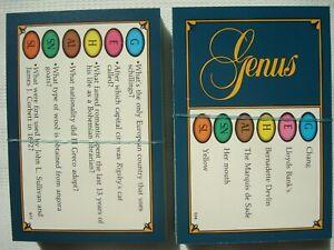 Trivial Pursuit Genus Edition 100 cards, 600 questions Trivia Quiz by Parker