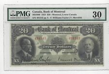 **1923**Bank Of Montreal $20 Note ;PCGS**VF-30**SN# 491545 Large Note