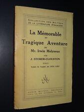 LA MÉMORABLE ET TRAGIQUE AVENTURE DE Mr. IRWIN MOLYNEUX  - J. Storer-Clouston