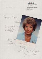 Jennie Bond.  BBC's royal correspondent.   Signed letter & photo card  YF.51