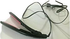 Conair 3/4 In Curved Ceramic Hair Straightener Flat Iron Dual Voltage CS4VCSR
