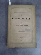 Volkman Gebiete der optik Monoyer ophtalmologie optique médecine