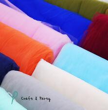 "54"" x 120 Ft (40 Yards) Bolt Tulle Bridal Quality Tutu Pew Craft Draping Wedding"