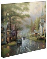 Thomas Kinkade Hometown Evening 20 x 20 Gallery Wrapped Canvas