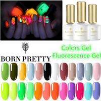 6ml Fluorescence UV Gel Nail Polish Soak Off Base Top Coat Color Gel Born Pretty