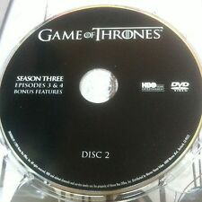 Game of Thrones Season 3 disc 2 Replacement Disc DVD ONLY