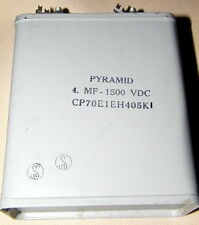 Pyramid Oil Capacitor  Capacitors  4 MF 1500 VDC  New Old Stock