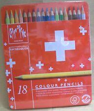 Caran d'Ache Swisscolor Nuovi Scatola Metallo 18 Pastelli Swiss Made