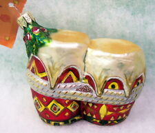 Slavic Treasures Retired Glass Ornament - Bongos