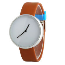 QSimple Bright Color Belt No digital No Second Men's Quartz Business Watch Gifts