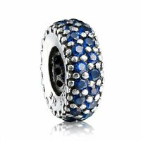 European 925 Blue Crystal Silver Charms Bead Fit Sterling Bracelets Necklace