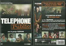 DVD - TELEPHONE PUBLIC avec LE GROUPE TELEPHONE / AUBERT / BERTIGNAC / LES INSUS