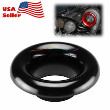 "3.5"" Black Short Ram Cold Air Intake Turbo Horn Aluminum Velocity Stack Adapter"
