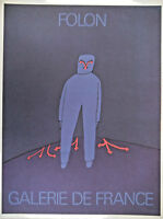 AFFICHE PUBLICITAIRE FOLON - GALERIE DE FRANCE - D'après Jean-Michel FOLON
