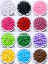 Opaque Mixed Acrylic Plastic Smooth Round Ball Spacer Beads 6 8 10 MM Pick Size