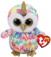 "2019 Ty Beanie Boos 9"" Medium ENCHANTED Owl w/ Horn Stuffed Animal Plush MWMTs"