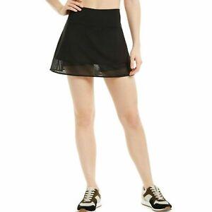 Ideology Womens Noir Black Shadow-Stripe Built-in-Shorts Active Skort Size M $39