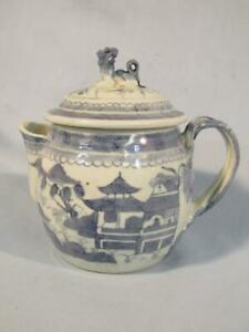 ANTIQUE CHINESE EXPORT CANTON BULBOUS SMALL TEAPOT