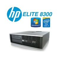 Ordinateur Fixe hp 8300 Small i5 3470 Windows 7 Pro 4GB 500GB Bureau Personnel