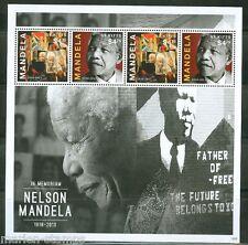 ST. KITTS 2014 MEMORIAL TO NELSON MANDELA SHEET   MINT NH
