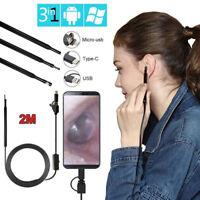 3in1 Ear Cleaning Endoscope USB 5.5mm Visual Earpick HD Camera Spoon Otoscope US