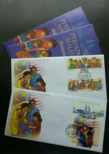 Malaysia Unity 2002 Traditional Costume Games Musical Flag (FDC pair) *see scan
