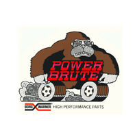BORG WARNER POWER BRUTE HIGH PERFORMANCE NHRA DRAG RACE HOT ROD DECAL STICKER