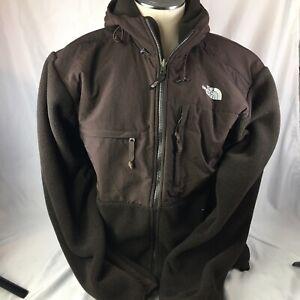 The North Face Men's Denali Fleece Full Zip Jacket Size L Dark Brown Fleece